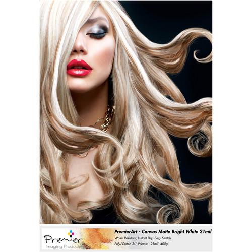 """Premier Imaging Canvas Matte Bright White (13 x 19"""", 10 Sheets)"""