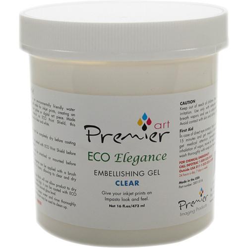 Premier Imaging ECO Elegance Inkjet Print Embellishing Gel (Clear, 16 oz)