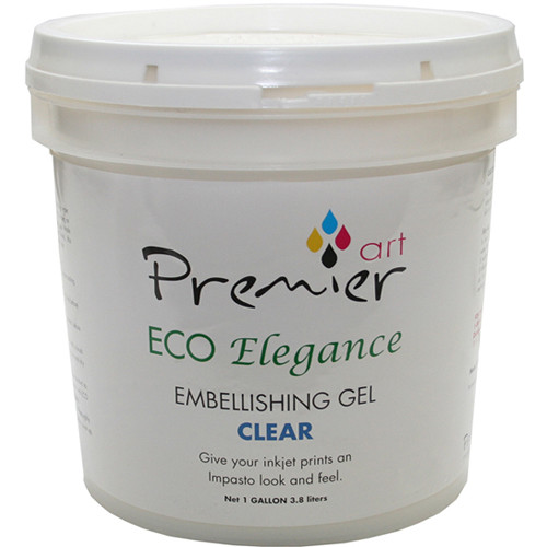 Premier Imaging ECO Elegance Inkjet Print Embellishing Gel (Clear, 1 Gallon)