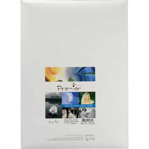 "Premier Imaging Premium Photo Luster Paper (11 x 17"", 20 Sheets)"