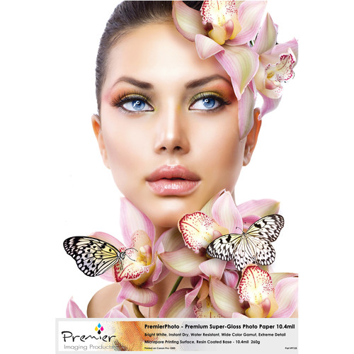 "Premier Imaging Premium Photo Gloss 260gsm Bright White Micropore RC Inkjet Paper (50 Sheets, 8 x 10"")"