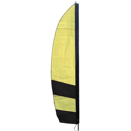 Premier Kites & Designs FPV Corner Gate Flag (10', Black/Yellow)
