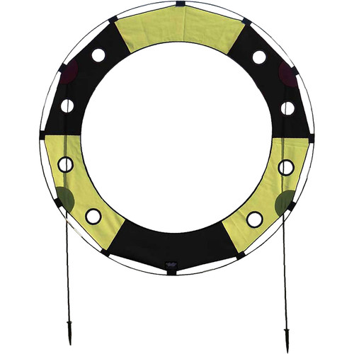 Premier Kites & Designs FPV Key Hole Gate (5', Black/Yellow)