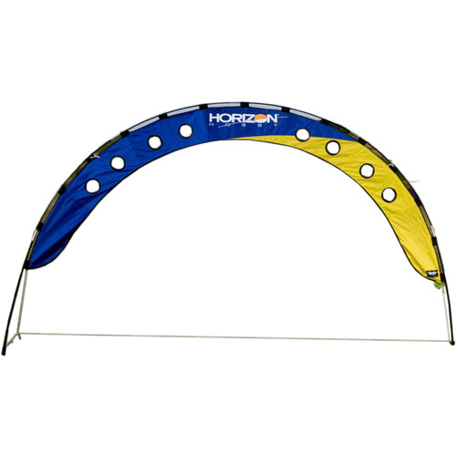 Premier Kites & Designs FPV Fly Under Arch with Horizontal Hobby Logo (10 x 4', Blue/Yellow)