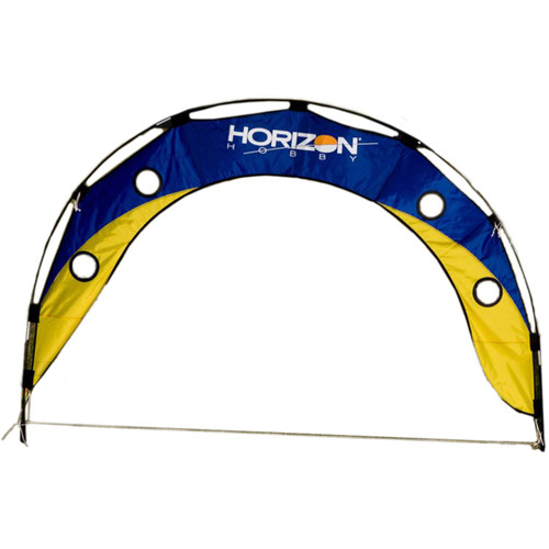 Premier Kites & Designs FPV Fly Under Arch with Horizontal Hobby Logo (5 x 3', Blue/Yellow)