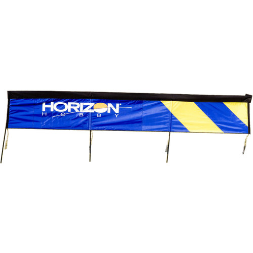 Premier Kites & Designs FPV Jump Over Gate with Horizontal Hobby Logo (10 x 1.75', Blue/Yellow)