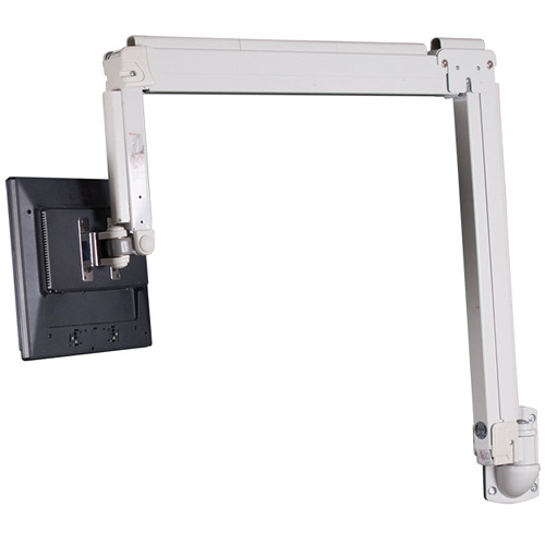 Premier Mounts AM18W Adjustable Height Swingout Mount for Small Flat-Panels (White)