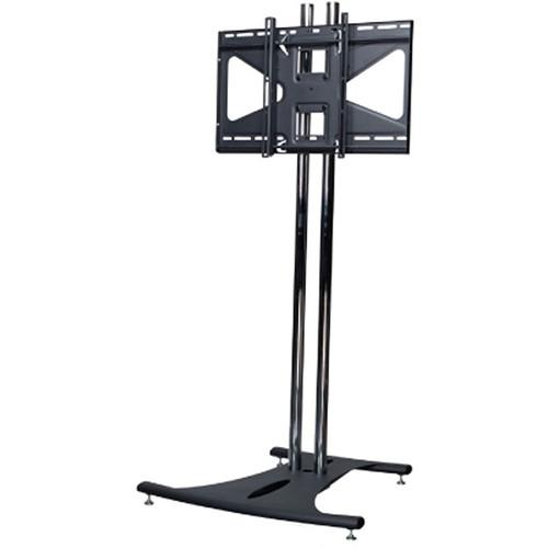 "Premier Mounts Elliptical Floor Stand with 72"" Dual Poles & Tilting Mount for Flat-Panels (Load Up to 160 lb, Black)"