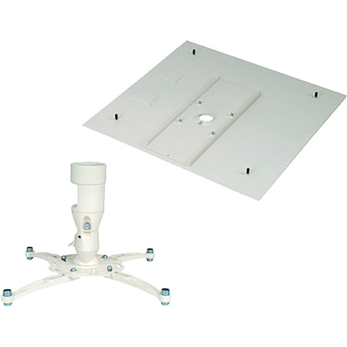 Premier Mounts MAG-FCMAW Universal Projector Mount with False Ceiling Adapter (White)