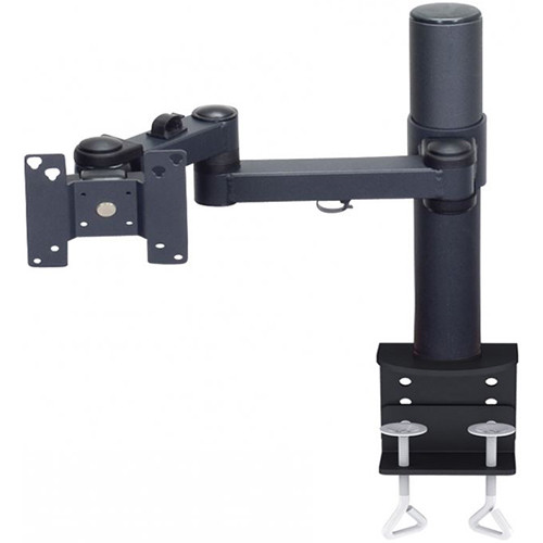 """Premier Mounts Articulating Arm with 15"""" Tube and Clamp Base for 15"""" Display (Load Up to 25 lb)"""