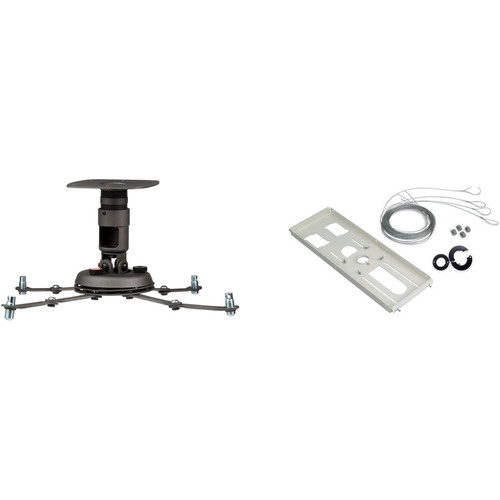 Premier Mounts PBC-FCTA-QL Projector Mount Kit with False Ceiling Adapter and Quick Lock Cable