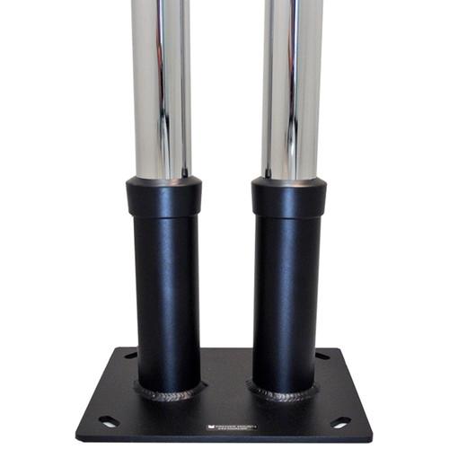 "Premier Mounts Dual Pole Anchor Base for 2"" Diameter Poles (Load Up to 200 lb)"