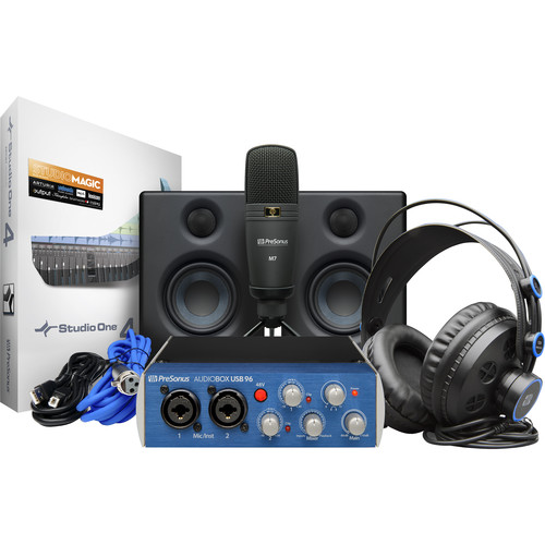 PreSonus AudioBox Studio Ultimate Bundle Deluxe Hardware/Software Recording Collection (Blue)