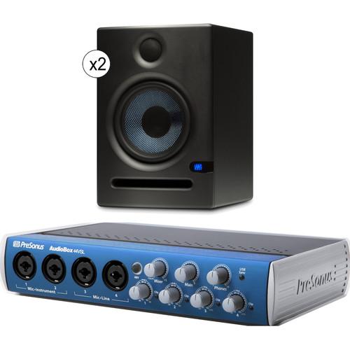 PreSonus AudioBox 44VSL Interface with Eris E5 Speakers Studio Bundle