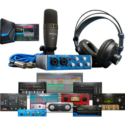 PreSonus AudioBox 96 Studio Complete Hardware/Software Recording Bundle (Blue)