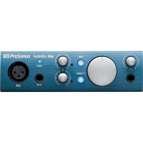 PreSonus AudioBox iOne Interface with Eris E4.5 Speakers Studio Bundle for Mac, PC, and iPad