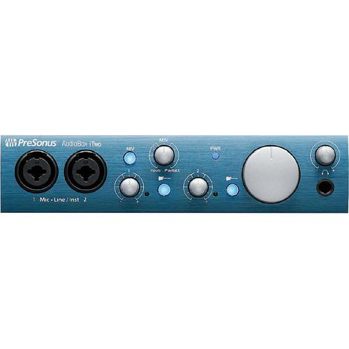 PreSonus AudioBox iTwo Interface with Eris E5 Speakers Studio Bundle for Mac, PC, and iPad