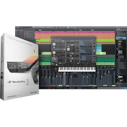 PreSonus Studio One 3 Professional Site License - Audio and MIDI Recording/Editing Software (Educational, Download)