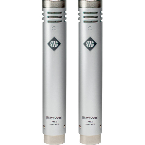 PreSonus PM-2 Small-Diaphragm Cardioid Condenser Microphone (Matched Pair)