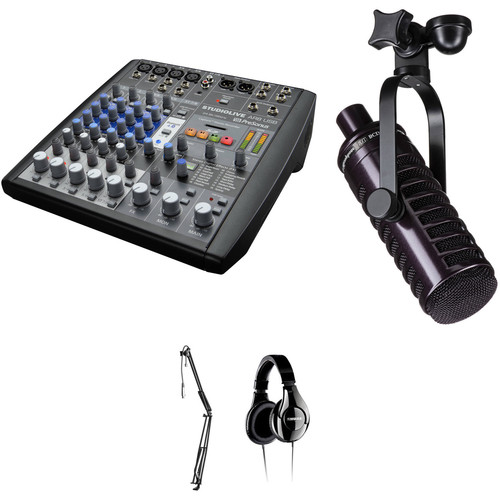 PreSonus Radio and Podcast Kit with StudioLive AR8 USB Mixer, Microphone, Boom Stand, and Headphones