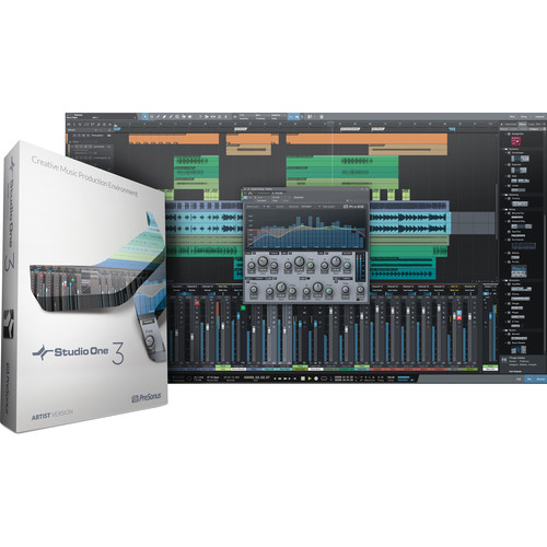 PreSonus Studio One Artist 3 - Audio and MIDI Recording/Editing Software (Activation Card)