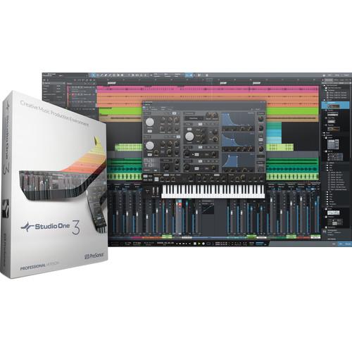 PreSonus Studio One 3 Professional - Audio and MIDI Recording/Editing Software (Activation Card)