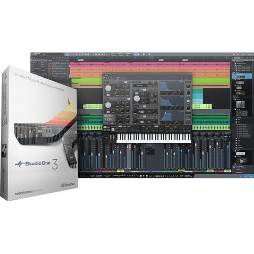 PreSonus Studio One 3 Professional - Artist & Quantum/Pro 3 Upgrade - Audio and MIDI Recording/Editing Software (Download)