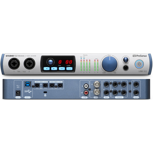 PreSonus Studio 192 Mobile USB 3.0 Interface with Studio One Pro Software