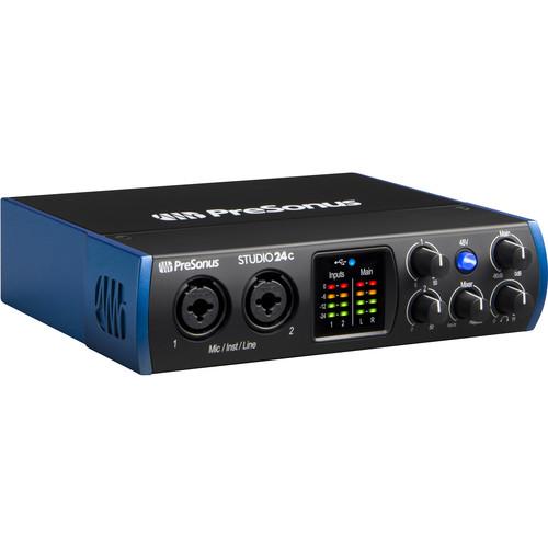 PreSonus Studio 24c Desktop 2x2 USB Type-C Audio/MIDI Interface