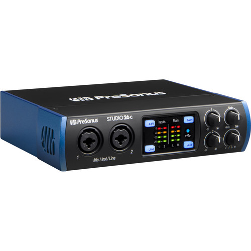 PreSonus Studio 26c Desktop 2x4 USB Type-C Audio/MIDI Interface