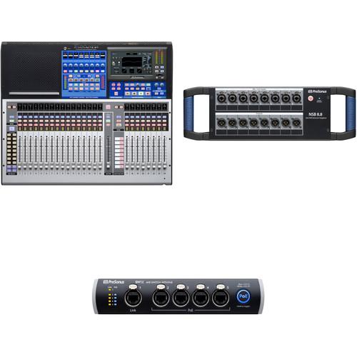 PreSonus StudioLive 24 Series III Digital Mixer and 8x8 Stage Box Kit