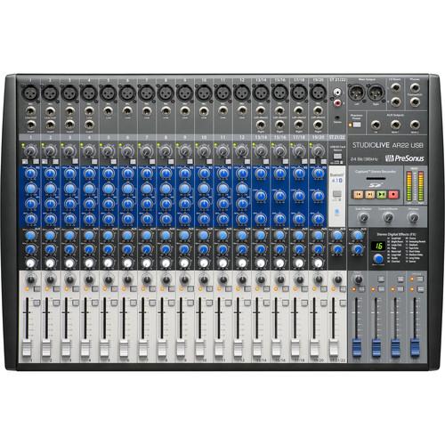 PreSonus StudioLive AR22 USB 22-Channel Hybrid Performance and Recording Mixer