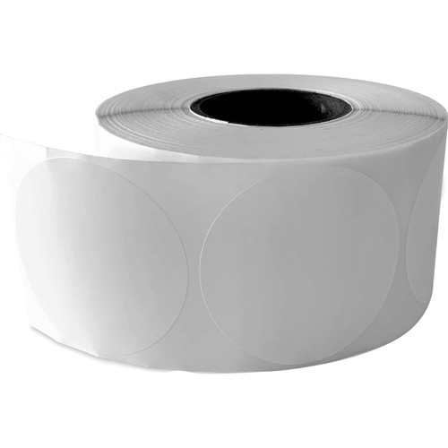 """Primera 2.5"""" Circle Premium Gloss Paper Roll for LX400 and LX500 (White, 825 Labels per Roll)"""