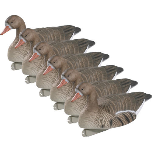 PRIMOS Floating Standard Size Active Speckle Belly Goose Decoys (6-Pack)