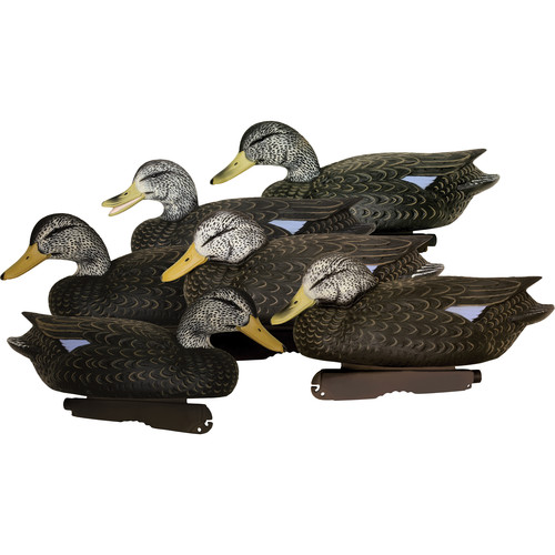 PRIMOS Final Approach HD Floating Black Duck Decoys (6-Pack)