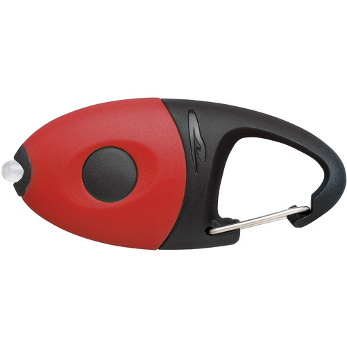 Princeton Tec Impulse Flashlight Carabiner Mini Light (Solid Red)