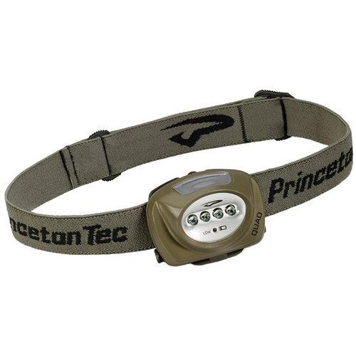 Princeton Tec Quad LED Headlamp (Olive Drab)