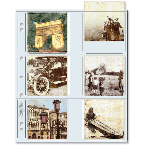 "Print File 33-12P Archival Storage Page for 12 Prints (3.5 x 3.5"", 100-Pack)"