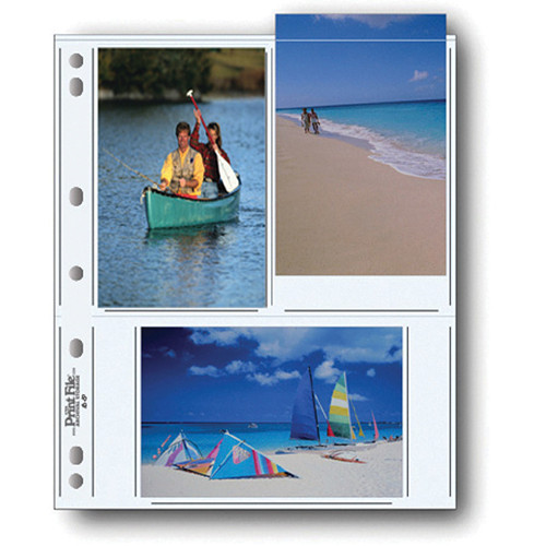"Print File 46-6P Archival Storage Page for 6 Prints (4 x 6"", 100-Pack)"