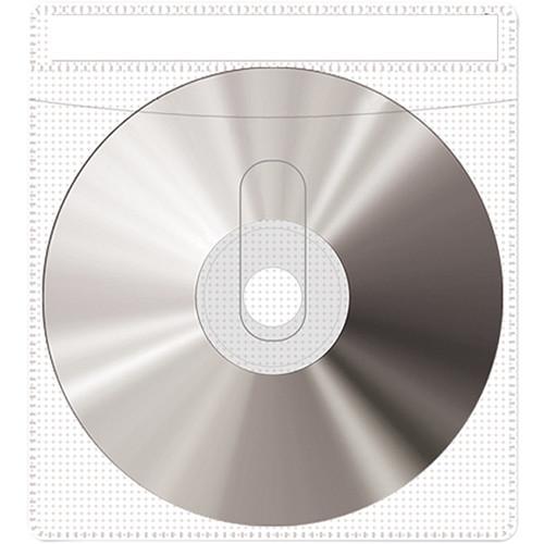 Print File CD or DVD Sleeves (10-Pack, White)