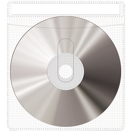 Print File CD or DVD Sleeves (10-Pack, White)