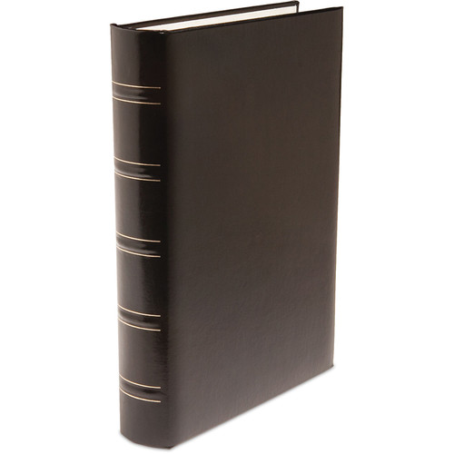 Print File Gallery Leather Padded S-Series Album (Black, Acadian Grain Pattern)