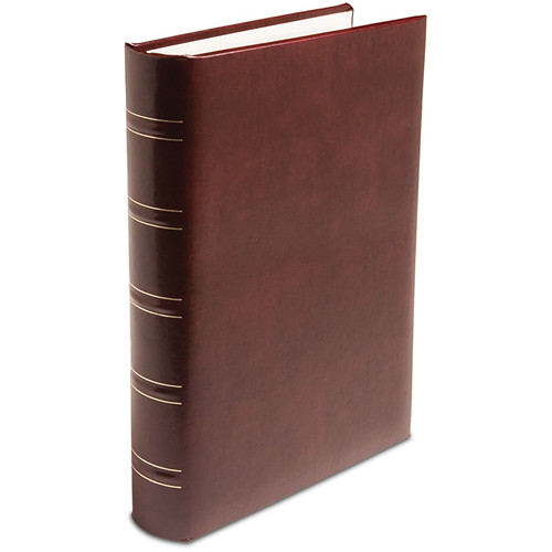 Print File Gallery Leather Padded S-Series Album (Burgundy, Acadian Grain Pattern)