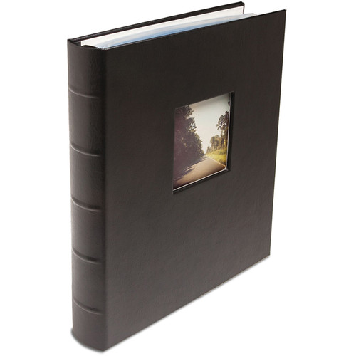 "Print File Gallery Leather Presentation S-Series Album with Window (Black, 11.75 x 10.5"")"
