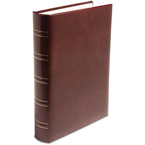 Print File Gallery Leather Padded M-Series Album (Burgundy, Acadian Grain Pattern)