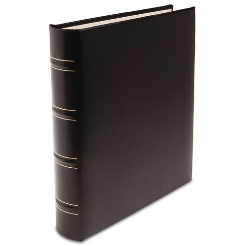 Print File Gallery Leather Padded C-Series Album (Black, Acadian Grain Pattern)