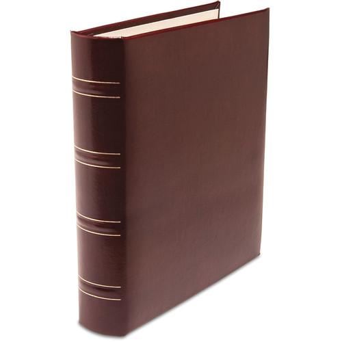 Print File Gallery Leather Padded C-Series Album (Burgundy, Acadian Grain Pattern)