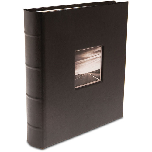 "Print File Gallery Leather Presentation C-Series Album with Window (Black, 9 x 8"")"
