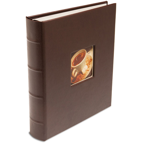 "Print File Gallery Leather Presentation C-Series Album with Window (Mocha, 9 x 8"")"