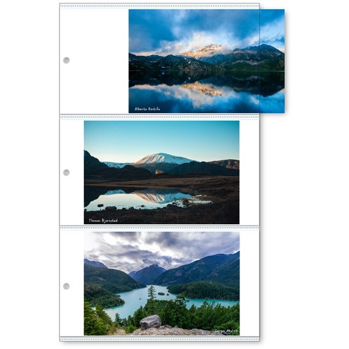 """Print File Sonic6 Photo Pages with White Paper Inserts (4 x 6"""", 25-Pack)"""